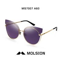 陌森2017新款明星同款猫眼个性太阳镜女款 司机驾驶镜墨镜MS7007