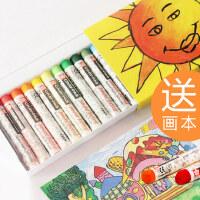 日本樱花牌彩色蜡笔25色36色50色儿童宝宝油画棒腊笔安全无毒油棒笔油花棒套装幼儿园
