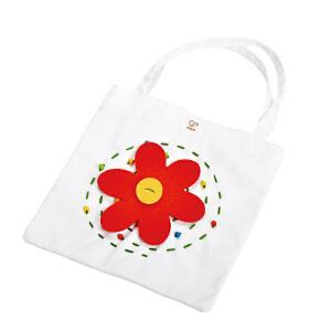 【特惠】HapeDIY刺绣布贴手提袋4岁以上创意DIY益智早教玩具绘画手工E5108