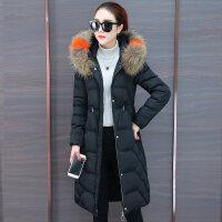 棉衣女中长款冬季装2018新款韩版大毛领棉袄冬天外套加厚羽绒