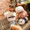 咱们裸熊羽绒棉公仔 三只小熊趴趴熊软体卡通毛绒玩具