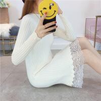 秋冬季毛衣女套头中长款打底衫长袖修身显瘦2018新款韩版毛衣裙潮