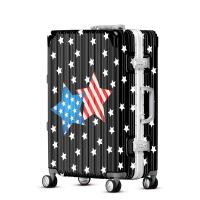 2018新款欧美行李箱星星印花旅行箱学生拉杆箱万向轮24寸行李箱
