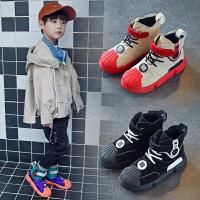 男童板鞋儿童运动鞋贝壳头鞋高帮女童鞋子