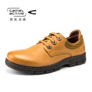 Camel Active/骆驼动感 秋冬款男士系带休闲鞋皮鞋潮流真皮男鞋