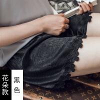 夏季防走光安全裤女士蕾丝花边可外穿打底裤大码薄款三分保险短裤