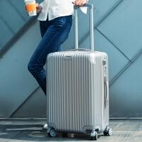 行李箱男女拉杆箱旅行箱包20韩版24登机密码皮箱子26寸万向轮学生 银色 201银色