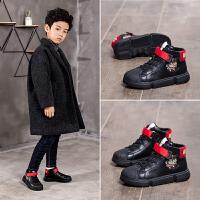 男童运动鞋冬季女童鞋子加绒儿童棉鞋男孩