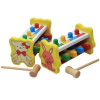 木制儿童打桩台宝宝敲打台玩具益智打击飞人婴幼儿早教益智玩具