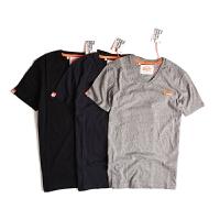 SUPERDRY/极度干燥 T恤衫男款短袖T恤纯棉圆领纯色T恤男款打底衫M10MO012DS