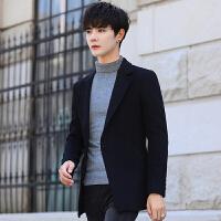秋冬季男士毛呢外套短款韩版修身呢子无羊绒英伦风衣羊毛妮子大衣