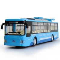 嘉业大尺寸合金巴士模型城市公交大巴汽车模型带回力声光功能