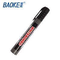 BAOKE宝克 可加墨白板笔 黑色单支 大容量水性易擦笔 易擦黑板笔 MP399A 当当自营