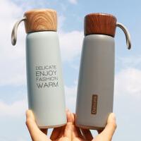 简约保温杯韩版男女学生创意潮流清新文艺时尚便携可爱原宿水杯子