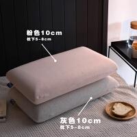 一对低反弹面包枕护颈枕慢回弹记忆棉太空枕头乳胶枕芯 灰色中高【一对】 尺寸 48*74*10 cm