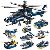 积木儿童益智拼装拼图玩具直升机飞机组装礼物