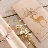 森林小鹿欧式 复古简约 小清新 情书 信封信纸套装