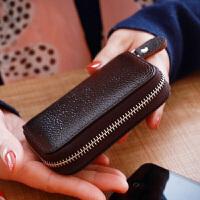 11卡位风琴女拉链牛皮卡包卡片包韩国简约一体钱包零钱包多功能