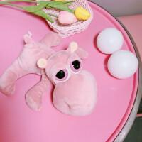 韩国chic风创意娃娃毛绒玩具生日礼物软萌粉色可爱童趣少女心玩偶