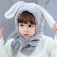 儿童帽子6个月秋冬婴幼儿围巾围脖一体婴儿帽1-3岁加绒女宝宝帽子