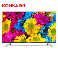 康佳(KONKA)T49U 49英寸64位10核4KHDR超高清安卓智能平板液晶电视(黑)