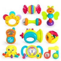 新生儿牙胶摇铃婴幼儿手摇铃宝宝安全咬胶套装10只 婴儿玩具0-1岁