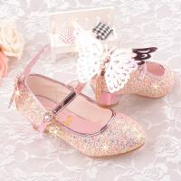 儿童鞋女童春款白雪公主芭比冰雪奇缘迪士尼高跟鞋带翅膀礼服鞋子