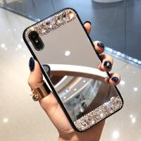 苹果x手机壳钻镜子玻璃镜面7p潮牌8plus新款iphone6s挂绳女xs max iPhone X