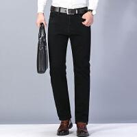 verhouse 加绒牛仔裤冬季新款加厚时尚宽松休闲裤男士百搭直筒长裤