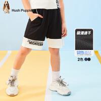【2件5折:101元】暇步士童装男童五分裤2021夏季新款儿童排汗速干中大童短裤裤子