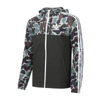 Adidas阿迪达斯男装 三叶草运动休闲连帽防风夹克外套 BS4907