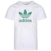 Adidas阿迪�_斯男�b三�~草短袖�\�有蓍eT恤FM3789