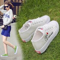 帆布鞋女鞋夏季新款女士运动板鞋女学生透气跑步鞋韩版情侣时尚休闲小白鞋