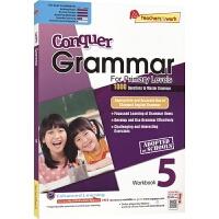 SAP Conquer Grammar Workbook 5 攻克系列小学五年级语法练习册 10-11岁 新加坡新亚出