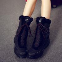 №【2019新款】冬天穿的雪地靴女中筒棉靴防水韩版潮加绒棉鞋女短靴子