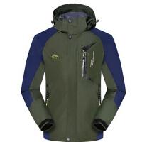 户外运动服装防风防水单层 新款男士冲锋衣 潮流时尚登山服外套