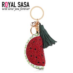 皇家莎莎小西瓜钥匙挂件PU皮钥匙扣韩国版包包汽车钥匙圈挂坠饰品
