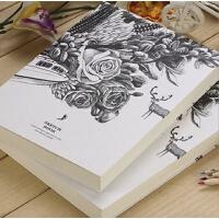 笔记本子 黑白创意空白素描本记事本速写手绘画大日记本