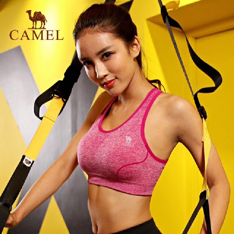 camel骆驼运动女款针织背心内衣 舒适跑步瑜伽女背心