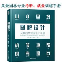 图解设计:风景园林快速设计手册 园林景观规划快题设计 基础教程书籍