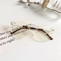 2017新款海洋镜片男女个性太阳镜王子文同款透明圆镜框平光镜墨镜