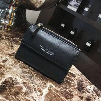 女士钱包2018新款韩版时尚短款折叠钱夹百搭手拿零钱包