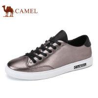 camel 骆驼男鞋 夏季新品百搭时尚滑板鞋舒适轻盈休闲真皮鞋