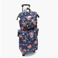 万向轮拉杆包旅行包拉杆帆布牛津布防水行李箱女拖拉拉轩箱登机包 20寸