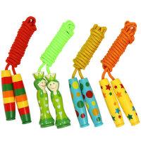 幼儿园专业跳绳 小学生小孩宝宝木质手柄单人木制儿童跳绳 2.2米