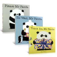 【中商原版】熊猫先生好礼貌绘本3册套装 英文原版 Mr Panda 儿童行为礼仪养成 亲子绘本 3-6岁 Steve