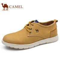 camel 骆驼男鞋硬朗百搭时尚轻盈工装鞋柔软缓震牛皮工装休闲鞋