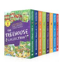 进口英文原版 The Treehouse Series 1-8 小屁孩树屋历险记8册盒装 中小学生课外阅读章节故事桥梁