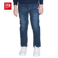 季季乐童装男童冬季新款韩版长裤男中大童加绒加厚保暖牛仔裤