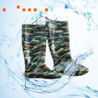 农田靴农用男士软底水田鞋袜插秧鞋捕鱼鞋女款下水鞋雨鞋A601 厘米迷彩插秧雨鞋